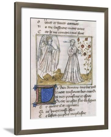 Illustration from Le Roman de La Rose--Framed Giclee Print