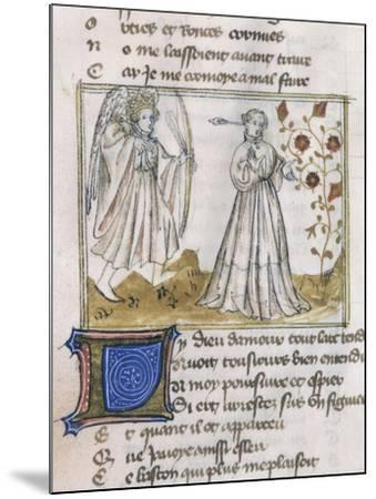 Illustration from Le Roman de La Rose--Mounted Giclee Print