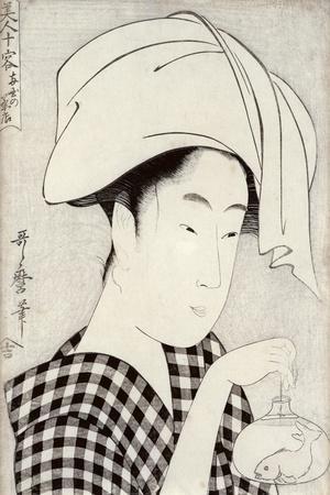 Tea-House in Ryogoku, from the Series Bijin Juyo-Kitagawa Utamaro-Stretched Canvas Print