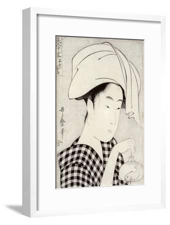 Tea-House in Ryogoku, from the Series Bijin Juyo-Kitagawa Utamaro-Framed Giclee Print