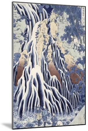 Kirifuri Fall on Kurokami Mount, from the Series 'shokoku Taki Meguri-Katsushika Hokusai-Mounted Giclee Print
