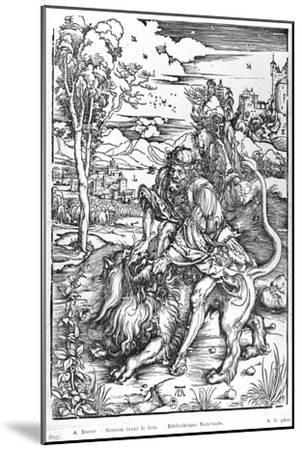 Samson Slaying the Lion, c.1496-98-Albrecht D?rer-Mounted Giclee Print