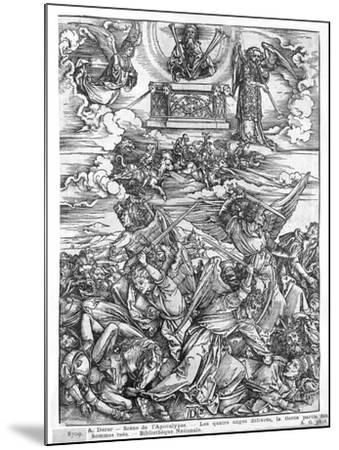 Scene from the Apocalypse, the Four Vengeful Angels, Latin Edition, 1511-Albrecht D?rer-Mounted Giclee Print