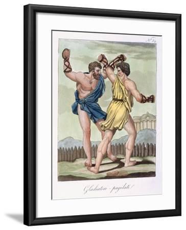 Gladiators, from Antique Rome Engraved by Labrousse, Published 1796-Jacques Grasset de Saint-Sauveur-Framed Giclee Print