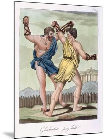Gladiators, from Antique Rome Engraved by Labrousse, Published 1796-Jacques Grasset de Saint-Sauveur-Mounted Giclee Print