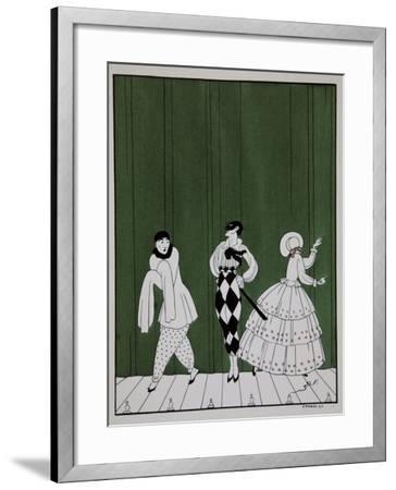 Carnaval, from the Series Designs on the Dances of Vaslav Nijinsky-Georges Barbier-Framed Giclee Print