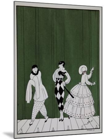 Carnaval, from the Series Designs on the Dances of Vaslav Nijinsky-Georges Barbier-Mounted Giclee Print