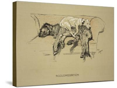 Agglomeration, 1930, 1st Edition of Sleeping Partners-Cecil Aldin-Stretched Canvas Print