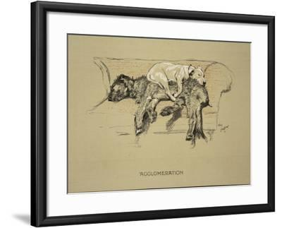 Agglomeration, 1930, 1st Edition of Sleeping Partners-Cecil Aldin-Framed Giclee Print