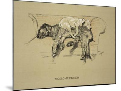 Agglomeration, 1930, 1st Edition of Sleeping Partners-Cecil Aldin-Mounted Giclee Print