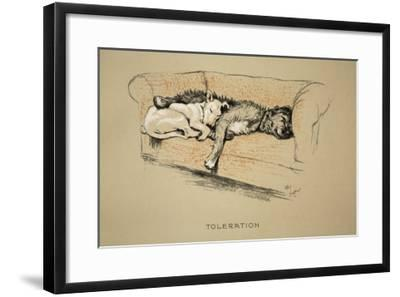 Toleration, 1930, 1st Edition of Sleeping Partners-Cecil Aldin-Framed Giclee Print