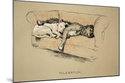 Toleration, 1930, 1st Edition of Sleeping Partners-Cecil Aldin-Mounted Giclee Print