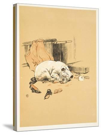 Not Finding the Chocolates, A Gay Dog, Story of a Foolish Year, Aldin, Cecil Charles Windsor-Cecil Aldin-Stretched Canvas Print