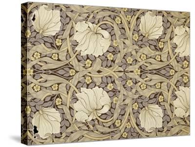 Pimpernell, Design For Wallpaper, Morris, William-William Morris-Stretched Canvas Print