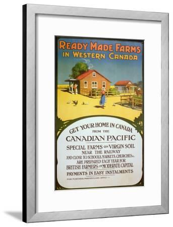 Poster Advertising Ready Made Farms in Western Canada, c.1900--Framed Giclee Print