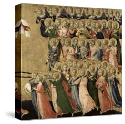 Christ Glorified in the Court of Heaven, Detail of Musical Angels from the Right Hand Side, 1419-35-Fra Angelico-Stretched Canvas Print