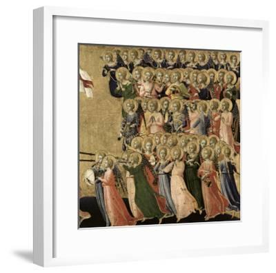 Christ Glorified in the Court of Heaven, Detail of Musical Angels from the Right Hand Side, 1419-35-Fra Angelico-Framed Giclee Print