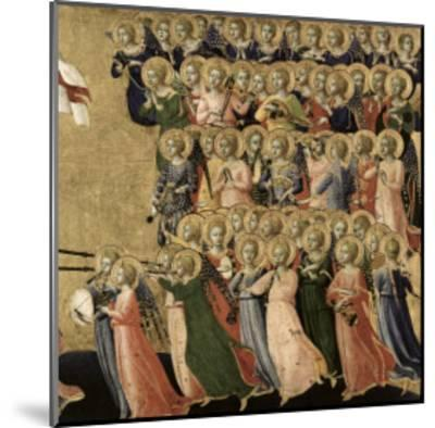 Christ Glorified in the Court of Heaven, Detail of Musical Angels from the Right Hand Side, 1419-35-Fra Angelico-Mounted Giclee Print
