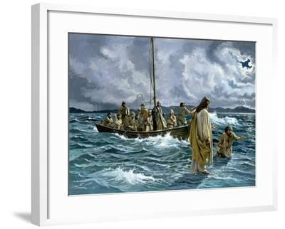 Christ Walking on the Sea of Galilee--Framed Giclee Print