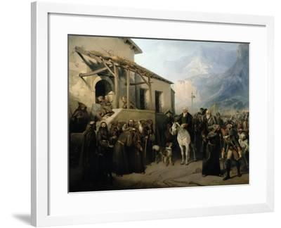 Field-Marshal Alexander Suvorov on the St Gothard Summit, 13th September 1799, 1855-Adolf Jossifowitsch Charlemagne-Framed Giclee Print