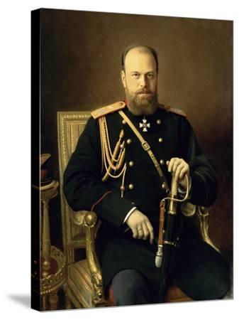 Portrait of Emperor Alexander III-Ivan Nikolaevich Kramskoy-Stretched Canvas Print