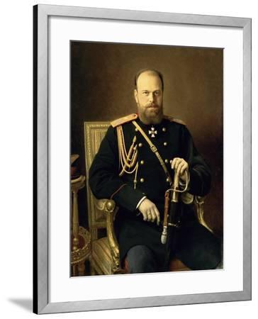 Portrait of Emperor Alexander III-Ivan Nikolaevich Kramskoy-Framed Giclee Print