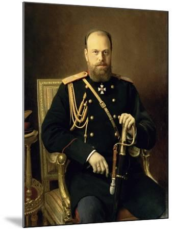 Portrait of Emperor Alexander III-Ivan Nikolaevich Kramskoy-Mounted Giclee Print