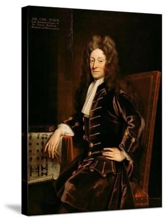 Portrait of Sir Christopher Wren-Godfrey Kneller-Stretched Canvas Print
