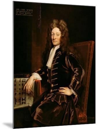Portrait of Sir Christopher Wren-Godfrey Kneller-Mounted Giclee Print