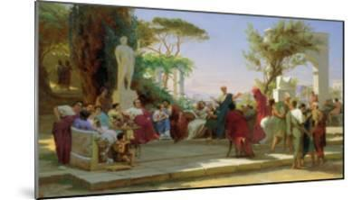 Horatius Reading His Satires to Maecenas, 1863-Fedor Andreevich Bronnikov-Mounted Giclee Print