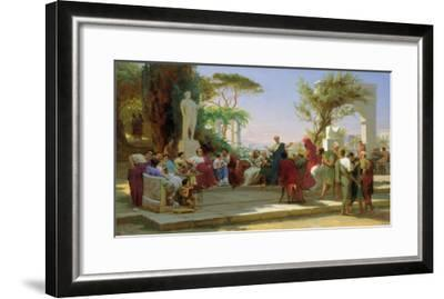 Horatius Reading His Satires to Maecenas, 1863-Fedor Andreevich Bronnikov-Framed Giclee Print