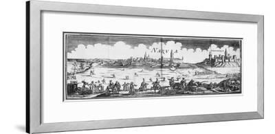The Russian Army Besieging Narva in 1700--Framed Giclee Print