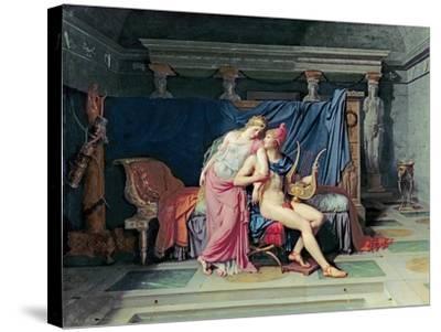 Paris and Helen-Jacques-Louis David-Stretched Canvas Print