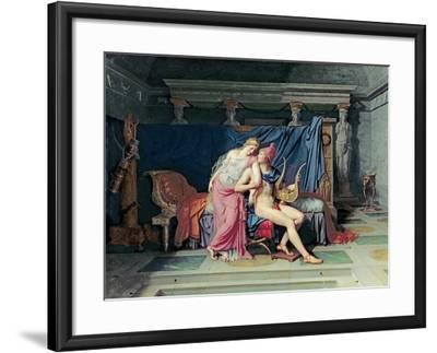 Paris and Helen-Jacques-Louis David-Framed Giclee Print