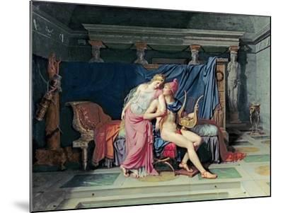 Paris and Helen-Jacques-Louis David-Mounted Giclee Print