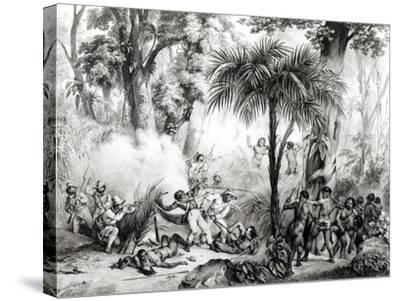 Guerillas, Engraved by Victor Adam-Johann Moritz Rugendas-Stretched Canvas Print
