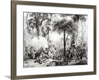 Guerillas, Engraved by Victor Adam-Johann Moritz Rugendas-Framed Giclee Print