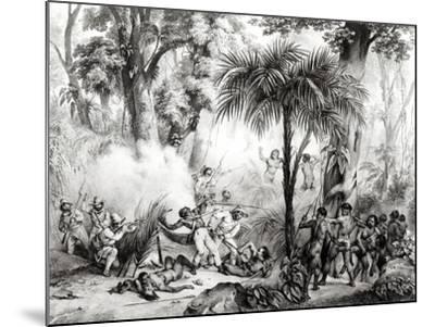 Guerillas, Engraved by Victor Adam-Johann Moritz Rugendas-Mounted Giclee Print