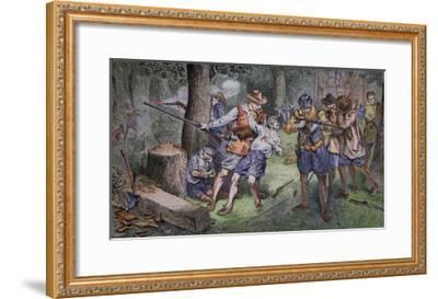 Settlement of Jamestown, Virginia in 1607-American School-Framed Giclee Print