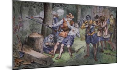 Settlement of Jamestown, Virginia in 1607-American School-Mounted Giclee Print