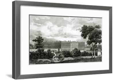 Rolling the Lawns at Hampton Court Palace, 7th March 1807--Framed Giclee Print
