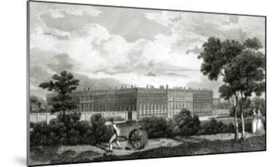 Rolling the Lawns at Hampton Court Palace, 7th March 1807--Mounted Giclee Print