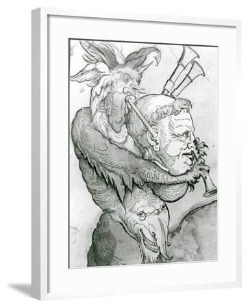 Devil Playing Man's Head as a Saxophone, 1144--Framed Giclee Print