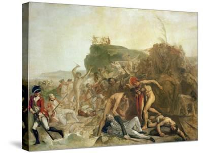 The Death of Captain James Cook, 14th February 1779-Johann Zoffany-Stretched Canvas Print