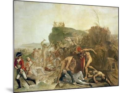 The Death of Captain James Cook, 14th February 1779-Johann Zoffany-Mounted Giclee Print