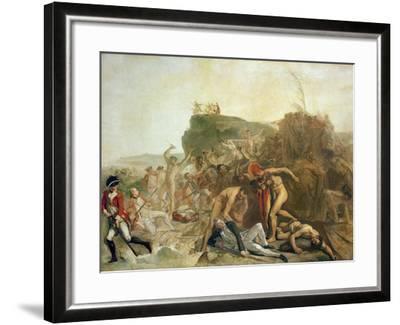 The Death of Captain James Cook, 14th February 1779-Johann Zoffany-Framed Giclee Print