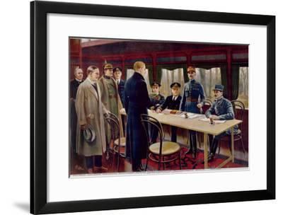 The Signing of the Armistice on 11th November 1918 at 5 A.M., 1918--Framed Giclee Print