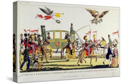 The Entry of Napoleon Into Paris on 20th March 1815--Stretched Canvas Print