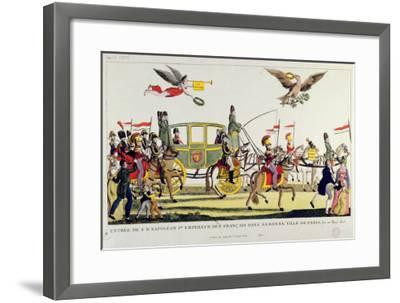 The Entry of Napoleon Into Paris on 20th March 1815--Framed Giclee Print
