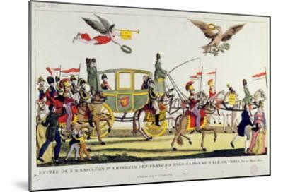 The Entry of Napoleon Into Paris on 20th March 1815--Mounted Giclee Print